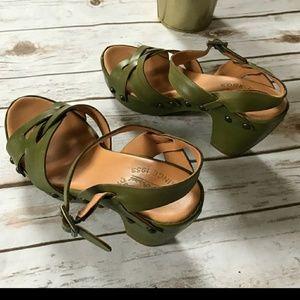Kork-ease sandals green 7